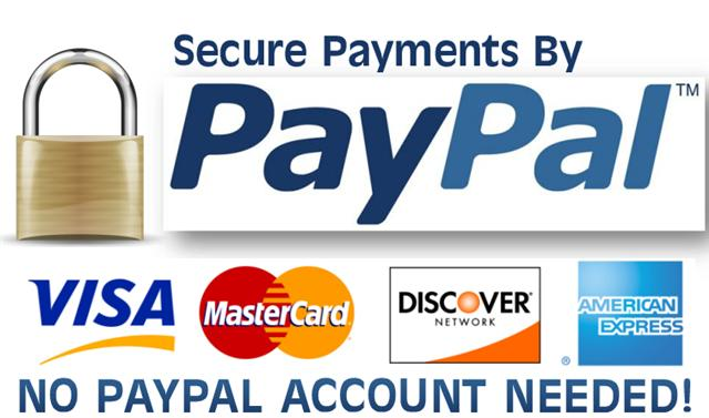 We use PayPal - The secure way to pay